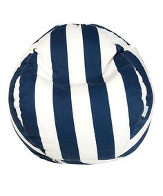 Take a look at this Navy Blue Stripe Beanbag by Majestic Home Goods on #zulily today!