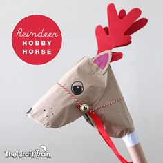 Make a recycled reindeer hobby horse!