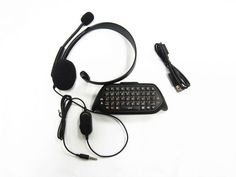 Official OEM XBOX ONE Chatpad Keyboard + Headset 5F7-00001-BP *Re-Certified* #Microsoft