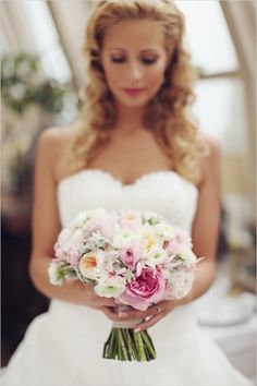 Beautiful Russian Outside Wedding ~ Newly Wed ~ just married!! ~ pink peach and white bouquet