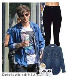 """""""Starbucks with Louis in LA"""" by ndvalenciano ❤ liked on Polyvore featuring beauty, Yves Saint Laurent, Topshop, LifeProof, adidas and Ray-Ban"""