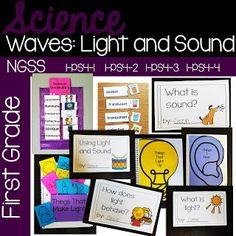 This first grade unit on Waves: Light and Sound aligns to NGSS* standards and .It covers four topics: Materials Science, Teaching Materials, Science Activities, Science Projects, First Grade, Grade 1, Next Generation Science Standards, Third Grade Science, Developmental Psychology