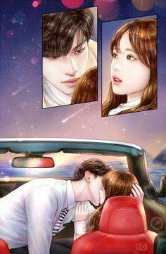 [My Secret Romance] Korean Drama Cute Couple Drawings, Cute Couple Art, Anime Love Couple, Couple Cartoon, Cute Anime Couples, Sweet Couples, Sung Hoon My Secret Romance, Cute Love Pictures, Dibujos Cute