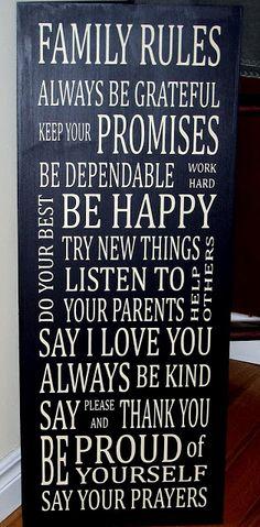 Family rules. Cute