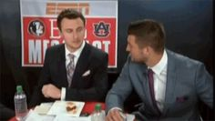 Image result for tebow manziel gif