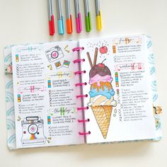 Summertime is the best time to bring your bullet journal to life. Getting inspired with summertime spread ideas is the most fun part of the process. Here are 7 summer spread ideas for your bullet journal. Bullet Journal Ideas Pages, Bullet Journal Inspiration, Journal Pages, Bullet Journals, Art Journals, Bullet Journal Art, Journal Layout, My Journal, Summer Journal