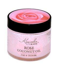 Rose Infused Coconut Oil by Kuumba Made - A n exceptional facial moisturizer! Made with certified #organic coconut oil, and rose petals. Squeaky clean #skincare. Rose is slightly astringent, making it an excellent toner and such a fresh and feminine aroma.  Samples available, you just have to try it.