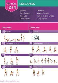 Kayla Itsine, Bikini Body Guide - Week 2 & 4, Monday