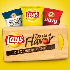 Lay's Do Us A Flavor is back! The search is on for the next great potato chip flavor. Create a flavor, choose your chip and you could win $1 million! See Rules.