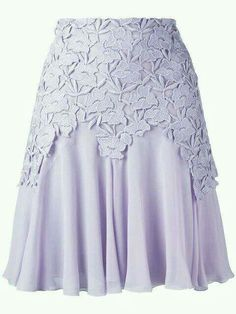 Lace over skirt