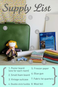 hart + sew | Vintage Baby Clothing: doll suitcase: tutorial I created this fun doll suitcase for my oldest daughter and we love playing with it together. It has three interchangeable rooms, a secret clothes storage space under the floor, and it's portable! Would you like to make your own? I'll show you how!