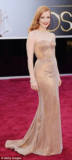 Jessica Chastain is our best dressed at the Oscars 2013