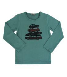 Emile et Ida Round Collar T-shirt LS - cars