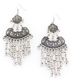 Persian Silver Chandelier Earrings – La De Da Too