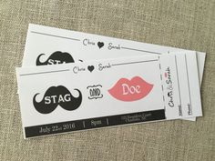 Cute idea for tickets! We can definitely design & print our own to save money though.