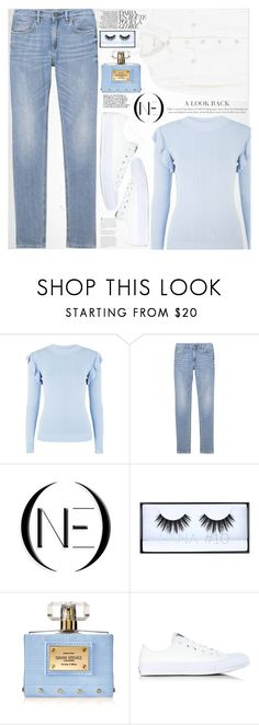 """OneDenim"" by vanjazivadinovic ❤ liked on Polyvore featuring Glamorous, Huda Beauty, Versace, Converse, MANGO, vintage, polyvoreeditorial and onedenim"