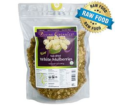 Divine Organics 2LB Raw White Mulberries -- Read more reviews of the product by visiting the link on the image.Note:It is affiliate link to Amazon. #JapaneseFood