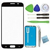 Samsung Galaxy S6 Screen Replacement Glass Lens Kit (Black)