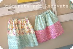 If only I could sew :) Cute fat quarter skirts.