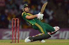 Dale Steyn ducks to avoid a ball during the 2nd ODI at the  Pallekele International Cricket Stadium