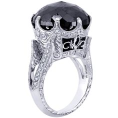 Beaudry Black Rose Cut Diamond Ladies Ring