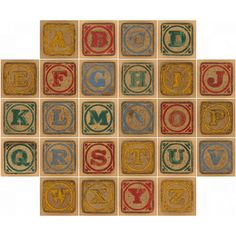 Printable Block Letters | Vintage wooden blocks | Flickr - Photo Sharing!