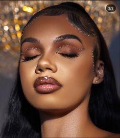 Dope Makeup, Edgy Makeup, Glamour Makeup, Black Girl Makeup, Dark Skin Makeup, Makeup On Fleek, Glam Makeup Look, Flawless Makeup, Girls Makeup