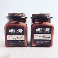 Pick 2 Amber Apothecary Wood Wick Soy Candles