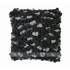 Pebble Cushion Black/Grey