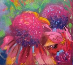 Meadow Sparklers - Pastel painting by Sharon Cave Visual Arts, Sparklers, Cave, Pastel, Artwork, Painting, Cake, Work Of Art, Auguste Rodin Artwork