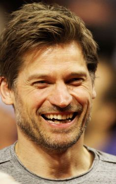 Nikolaj Coster-Waldau at Clippers game