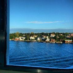 Utsikt från båten Silja Symphony