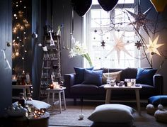 Ikea invests in stylish Christmas decorations for Christmas 2016 Christmas Photo, Ikea Christmas, Christmas Mood, Christmas 2016, Christmas Stars, Decoration Table, Light Decorations, Christmas Decorations, Gravity Home