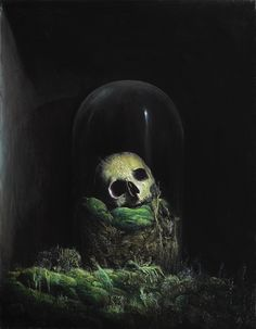 Agostino Arrivabene. Vanitas Newtoniana . 2015 oil on linen cm 76,5 x 57,5  exposed in Galerie Da-End Paris
