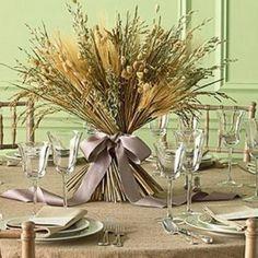 Decorate the table in the autumn wheat spikelets / Декорируем стол осенью колосками пшеницы