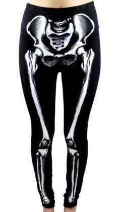 Realistic Skeleton Leggings Anatomical Bones Trouser Pants