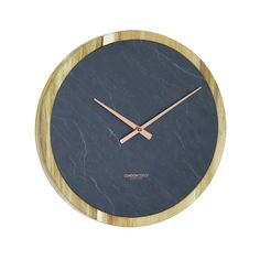 Exude modern luxury in your home with the minimalist looks and practicality of the Carbon Slate & Solid Wood Wall Clock from London Clock Company. London Clock, Mantel Clocks, Wall Clocks, Black Clocks, Wall Clock Online, Homewares Online, Wood Rounds, Slate, Solid Wood