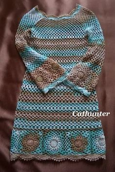 """36 Creative Crochet Ideas & Patterns to Try - Theresia Schubert - 36 Creative Crochet Ideas & Patterns to Try Boho Crochet Dress Love the Boho or """"Hippy Chic"""" style? Crochet a dress to compliment this look, bright and colorful ideal for your wardrobe. Crochet Skirts, Crochet Yarn, Crochet Clothes, Free Crochet, Knit Crochet, Crochet Ideas, Crochet Hooks, Crochet Projects, Easy Crochet"""
