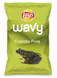 Wouldn't Crunchy Frog be yummy as a chip? Lay's Do Us A Flavor is back, and the search is on for the yummiest flavor idea. Create a flavor, choose a chip and you could win $1 million! https://www.dousaflavor.com See Rules.