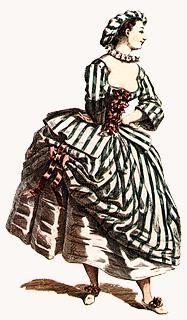 Italian Comedy | Commedia dell'Arte | Innamorati | Lovers / Corallina (year 1744)