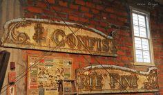 Fiona and Twig: Reclaiming old signs