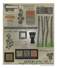 DOWNLOADABLE MODERN WALL ART 9 ... commonly known as layered wall art, this animal print vector graphic package centers around everything related to zebra themed wall decor @ My Vinyl Designer (http://www.myvinyldesigner.com/Products/modern-wall-art-9.aspx)