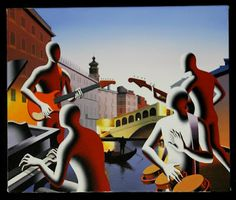 Mark Kostabi with Biography Mark Kostabi, Figure Painting, Contemporary Artists, Biography, Art Images, Album Covers, Jazz, Paintings, Musicians