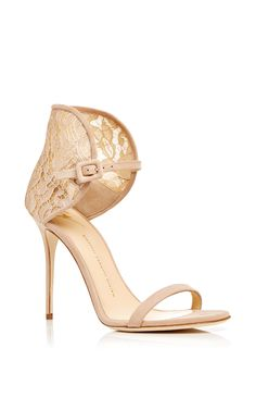 Giuseppe Zanotti Mistico Calf Leather Sandals with Lace Heel - ShopStyle Lace Heels, Lace Up Sandals, Leather Sandals, Shoes Heels, Heeled Sandals, Pumps, Cute Shoes, Me Too Shoes, Ugly Shoes