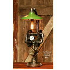 Steampunk Industrial gear lamp light