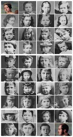 The grandchildren of Queen Victoria and Prince Albert as children
