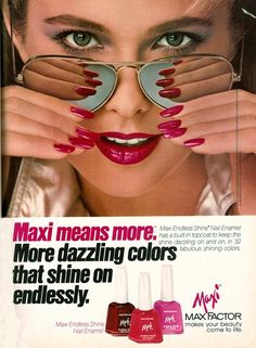 Max Factor, circa late 70s/early 80s  Model : Nancy DeWeir
