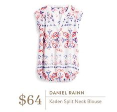 Daniel Rainn Kaden split neck blouse from stitch fix