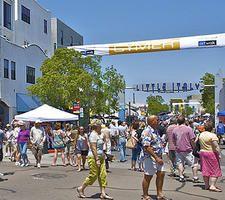 Little Italy Artwalk - La Pensione Hotel is right on the fine art festival footprint