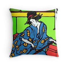 Geisha No. 1 (Color) #japan #geisha #kimono #shirts #tanks #longsleeve #hoodie #phonecase #mugs #stickers #kids #baby #teen #adult #pillow #tote #laptopcase #notebook #fashion #gift #present #birthday #Christmas #men #women #mom #dad #grandma #grandpa #uncle #aunt